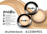 glamorous fashion face cosmetic ... | Shutterstock .eps vector #613384901