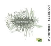 frame with grass. vector   Shutterstock .eps vector #613387007