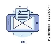 illustration of opening email... | Shutterstock .eps vector #613387349