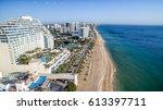 fort lauderdale coastline  ... | Shutterstock . vector #613397711