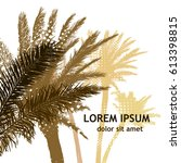 palm trees background. vector | Shutterstock .eps vector #613398815