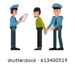 police officers detained the... | Shutterstock .eps vector #613400519