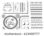 vector set of different... | Shutterstock .eps vector #613400777