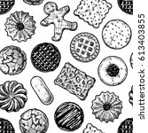 vector seamless pattern with... | Shutterstock .eps vector #613403855