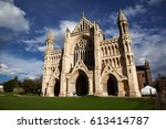 st albans cathedral on sunny day | Shutterstock . vector #613414787
