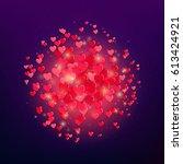 heart explosion. a lot of...   Shutterstock .eps vector #613424921