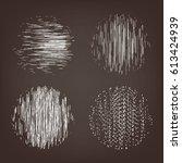 vector abstract circle shape.... | Shutterstock .eps vector #613424939
