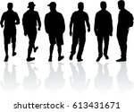 silhouette of a man. | Shutterstock .eps vector #613431671