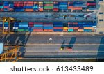 container container ship in... | Shutterstock . vector #613433489