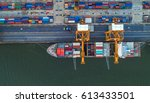 container container ship in... | Shutterstock . vector #613433501