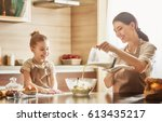 happy loving family are... | Shutterstock . vector #613435217