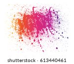 abstract powder splatted... | Shutterstock .eps vector #613440461