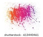 abstract powder splatted... | Shutterstock .eps vector #613440461
