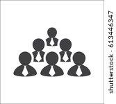 employees on white background | Shutterstock .eps vector #613446347