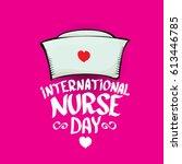 international nurse day vector...   Shutterstock .eps vector #613446785