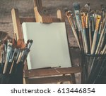 artistic equipment  empty... | Shutterstock . vector #613446854