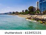 coastline and promenade in... | Shutterstock . vector #613452131