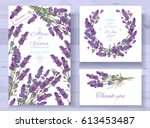 vector wedding invitations set... | Shutterstock .eps vector #613453487