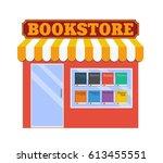 street bookstore shop. flat... | Shutterstock .eps vector #613455551