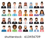 group of working people ... | Shutterstock .eps vector #613456709