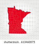 details minnesota map in... | Shutterstock .eps vector #613460075