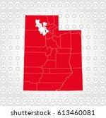 details utah map in diamond... | Shutterstock .eps vector #613460081