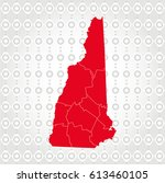 details new hampshire map in... | Shutterstock .eps vector #613460105