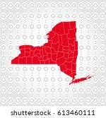 details new york map in diamond ... | Shutterstock .eps vector #613460111