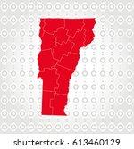 details vermont map in diamond... | Shutterstock .eps vector #613460129