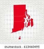 details rhode island   map in... | Shutterstock .eps vector #613460495
