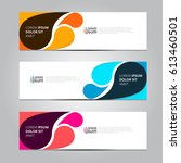 vector design banner background. | Shutterstock .eps vector #613460501
