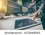 developing programming and... | Shutterstock . vector #613464041