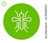mosquito isolated minimal icon. ... | Shutterstock .eps vector #613468967