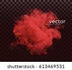 vector illustration of smoke.... | Shutterstock .eps vector #613469531