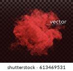 vector illustration of smoke.... | Shutterstock .eps vector #613469531