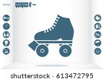 vector illustration of roller...   Shutterstock .eps vector #613472795