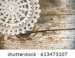Vintage Lace Fabric On The Old...