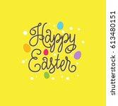 happy easter illustration.... | Shutterstock .eps vector #613480151