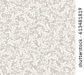 seamless damask pattern in beige | Shutterstock .eps vector #613481819