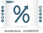 percent icon vector... | Shutterstock .eps vector #613483295