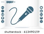 microphone icon vector | Shutterstock .eps vector #613490159