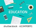 education concept illustration  ... | Shutterstock . vector #613490891