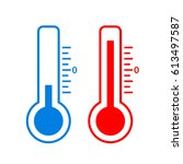 cold and hot temperature vector ...   Shutterstock .eps vector #613497587
