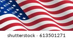 waving flag of the united... | Shutterstock .eps vector #613501271
