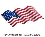 waving flag of the united... | Shutterstock .eps vector #613501301