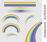 rainbows in different shape... | Shutterstock .eps vector #613501331