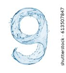 Number 9 Made With A Splashes...