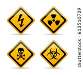 danger warning vector sign set... | Shutterstock .eps vector #613510739