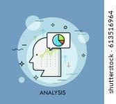 human head  speech bubble ... | Shutterstock .eps vector #613516964