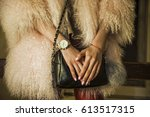 elegant outfit. close up of... | Shutterstock . vector #613517315